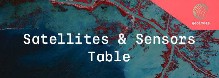 Satellites & sensors table