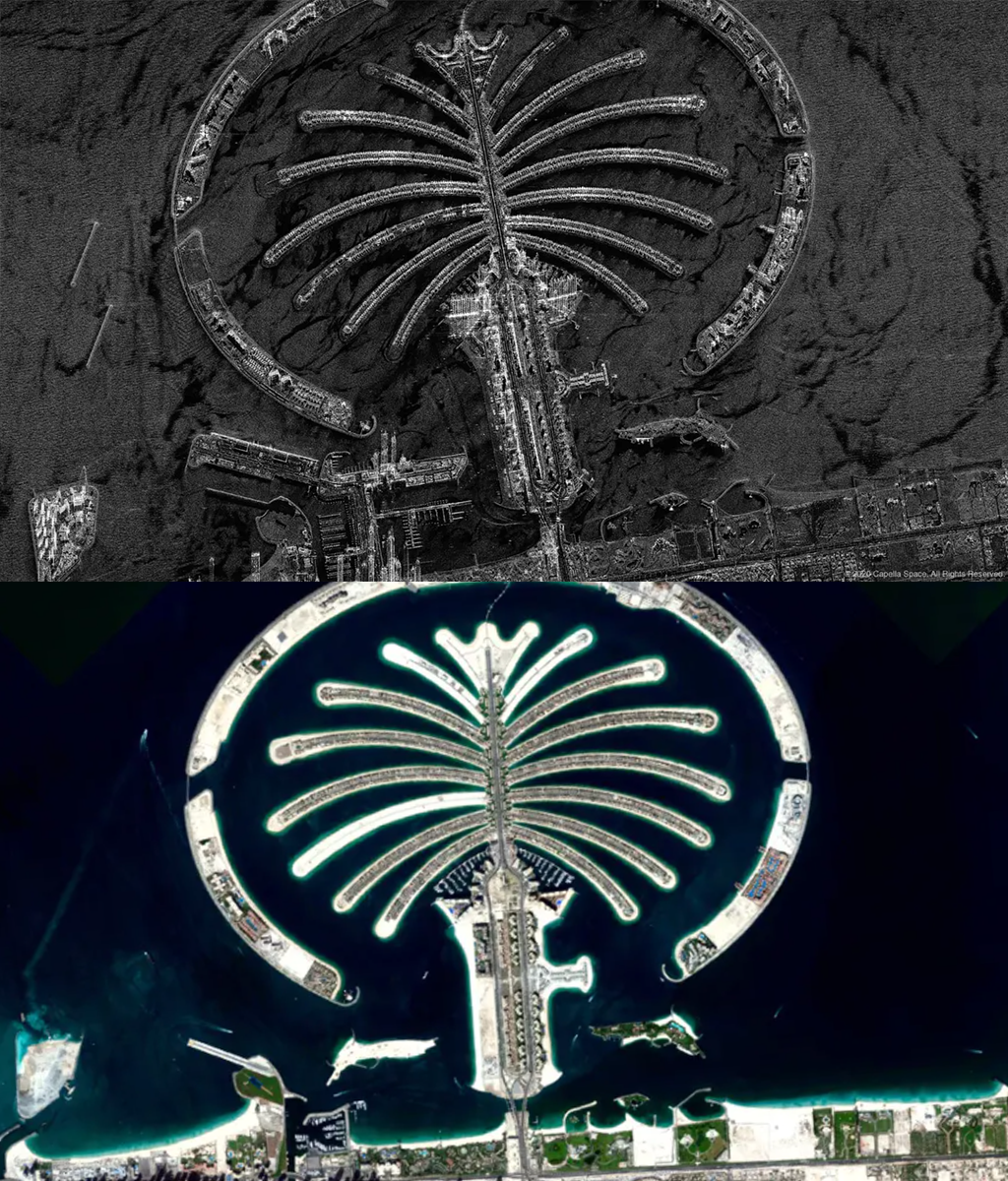 Comparison of radar and optical imagery