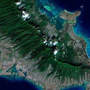 Satellite image over Hawaii